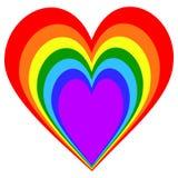 彩虹心脏样式 向量例证