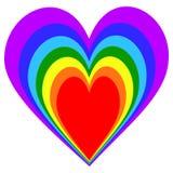 彩虹心脏样式 皇族释放例证