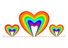 彩虹心脏爱商标象 库存照片