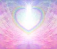 彩虹心脏背景 库存例证