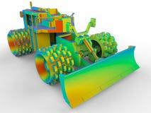 彩虹推土机用于清除雪 向量例证
