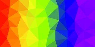 彩虹旗子低多传染媒介背景 库存照片