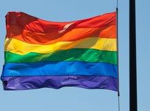 彩虹旗子 库存图片