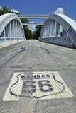 彩虹曲线桥梁在堪萨斯 库存图片