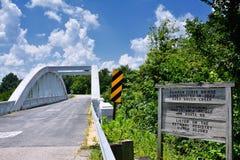 彩虹曲线桥梁在堪萨斯 免版税库存照片