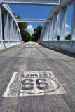 彩虹曲线桥梁在堪萨斯 免版税库存图片