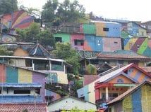 彩虹村庄在三宝垄 库存图片