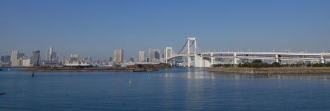 彩虹桥梁全景在东京,日本 免版税库存照片