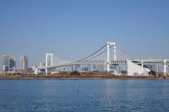 彩虹桥梁在东京,日本 免版税图库摄影