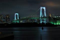 彩虹桥梁在夜之前 免版税库存照片
