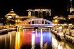 彩虹桥梁在新加坡 免版税库存照片