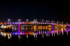 彩虹桥梁,诺维萨德,塞尔维亚 库存图片