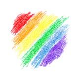 彩虹梯度 免版税库存图片