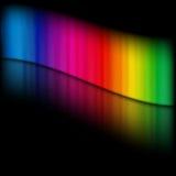 彩虹模板 免版税库存图片