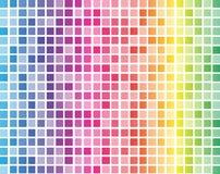 彩虹正方形有白色栅格背景 免版税库存图片