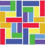 彩虹正方形 抽象几何模式 库存图片