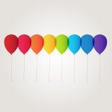 彩虹气球 免版税图库摄影