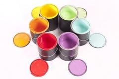 彩虹油漆三原色圆形图 库存图片