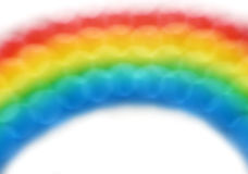 彩虹泡影 图库摄影