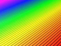 彩虹波纹 库存图片
