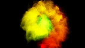 彩虹流动在圈子的颜色烟 股票录像