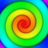 彩虹漩涡 向量例证
