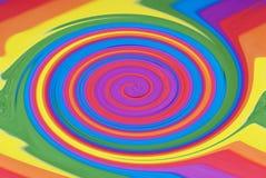 彩虹漩涡 库存图片