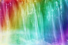 彩虹瀑布 库存照片