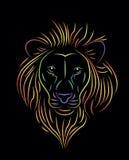 彩虹狮子 库存照片