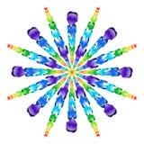 彩虹玻璃珠爆炸  免版税库存照片
