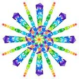彩虹玻璃珠轮转焰火  免版税库存图片