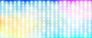 彩虹由电灯泡做成 库存图片