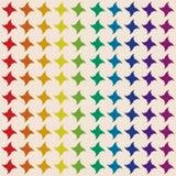 彩虹的四针对性的星色 无缝的模式 免版税库存照片