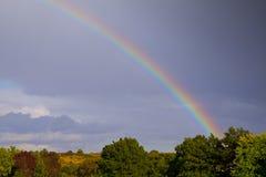 彩虹的末端 库存图片