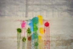 彩虹的颜色在墙壁上的 图库摄影