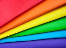 彩虹的颜色, LGBT的标志 免版税库存照片