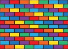 彩虹砖样式 免版税库存图片
