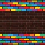彩虹砖 免版税图库摄影