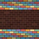 彩虹砖 免版税库存图片