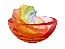 彩虹碗 库存图片