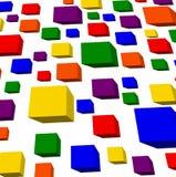 彩虹立方体 库存照片