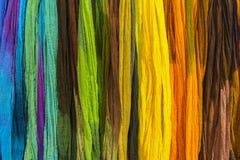 彩虹纺织品背景 图库摄影