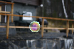 彩虹肥皂泡 库存照片