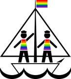 彩虹背心的水手 库存照片