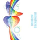 彩虹背景,向量例证 免版税库存照片