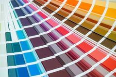 彩虹色板显示 库存照片