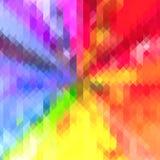 彩虹色的三角几何特征模式背景 免版税库存图片