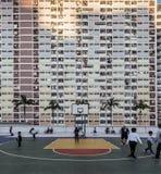彩虹色的公寓在崔垂悬了庄园,香港 库存照片