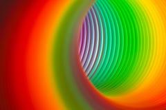 彩虹色的弹簧 库存照片