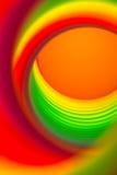 彩虹色的弹簧 免版税库存照片